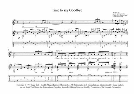 Time To Say Goodbye guitar fingerstyle