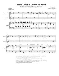 Santa Claus Is Comin' To Town (Duet for Soprano and Tenor Saxophone)