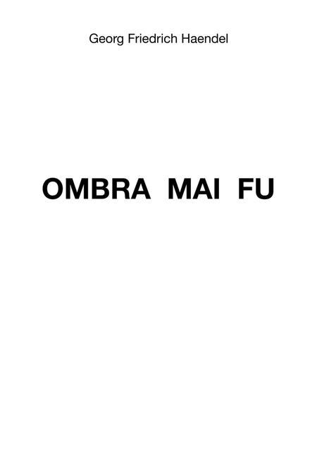 Ombra Mai Fu
