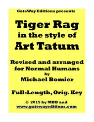 Tiger Rag, ala' Art Tatum, for Normal Humans