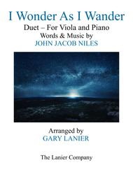 I WONDER AS I WANDER (Duet – Viola and Piano/Score with Viola Part)
