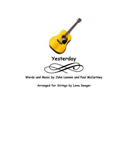 Yesterday (string trio)