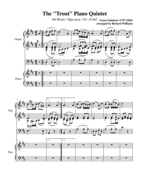 The Trout Piano Quintet