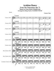 Arabian Dance from The Nutcracker for Clarinet Choir