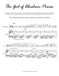 The God of Abraham Praise (arr. for cello and piano)