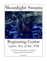 Moonlight Sonata - Beginning Guitar TAB - 3 Parts