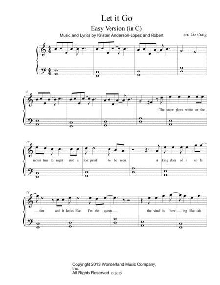 Let It Go - Easy Piano
