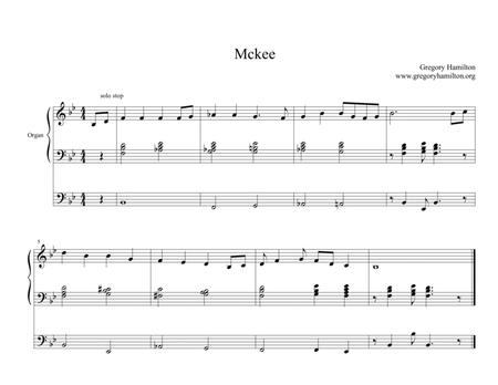 Mckee hymn tune: Alternate harmonization for Organ