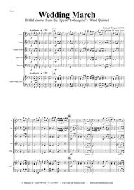 Wedding March - Bridal chorus Lohengrin - Wind Quintet