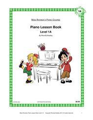 Piano Lesson Book 1A Miss Rhonda's Piano Course for Kids