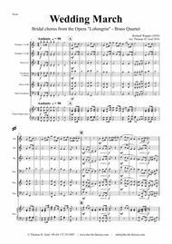 Wedding March - Bridal chorus Lohengrin - Brass Quartet