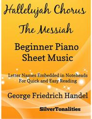 Hallelujah Chorus the Messiah Beginner Piano Sheet Music