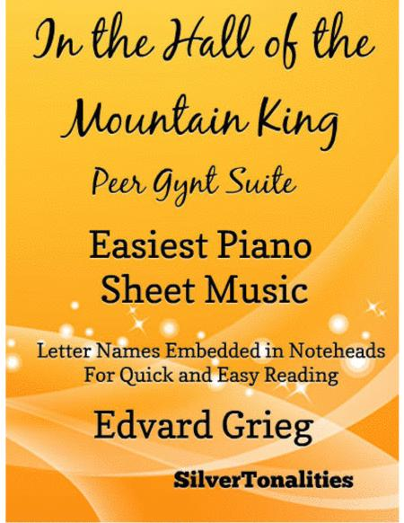 In the Hall of the Mountain King Peer Gynt Suite Easiest Piano Sheet Music