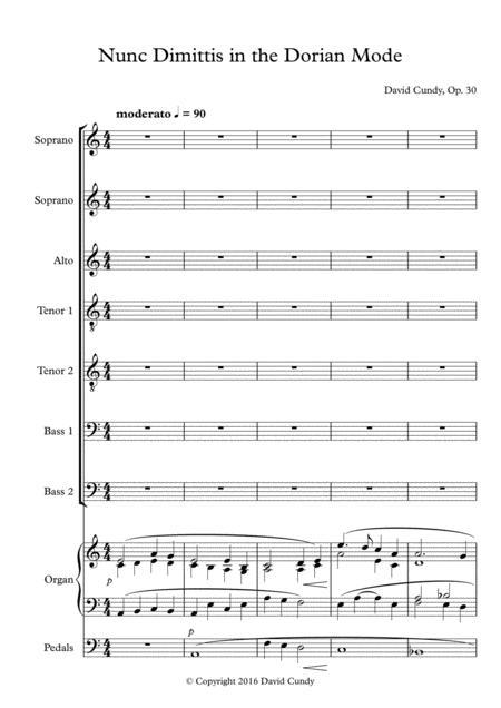 Nunc Dimittis in Dorian Mode, Op. 30, No. 2
