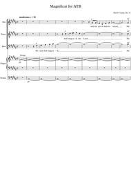 Magnificat for ATB, Op. 31