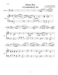 Danny Boy - A Londonderry Air - arranged for Trombone and Piano