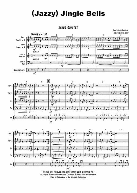 Jazzy Jingle Bells - Christmas Swing - Brass Quartet