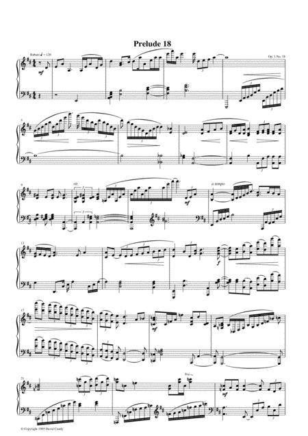 Prelude #18, Op. 1, No. 18