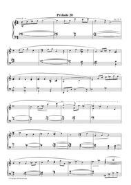 Prelude #20, Op. 1, No. 20