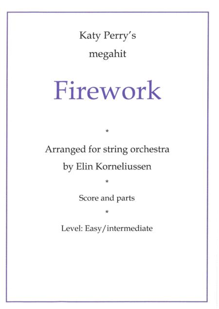 Firework by Katy Perry arranged for string orchestra