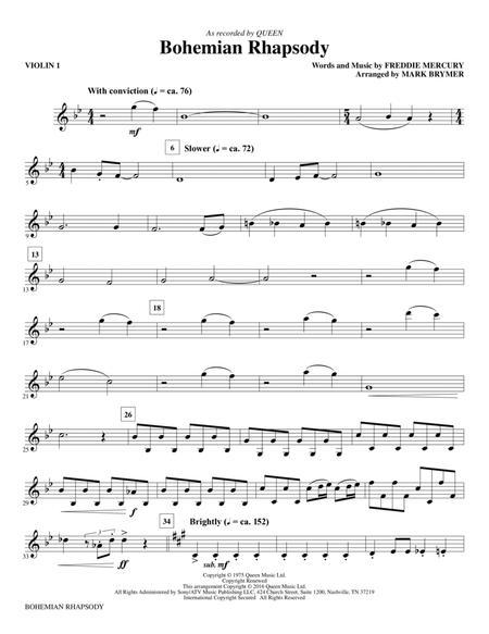 Bohemian Rhapsody (arr. Mark Brymer) - Violin 1