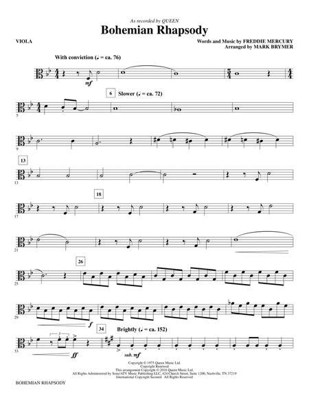 Bohemian Rhapsody (arr. Mark Brymer) - Viola