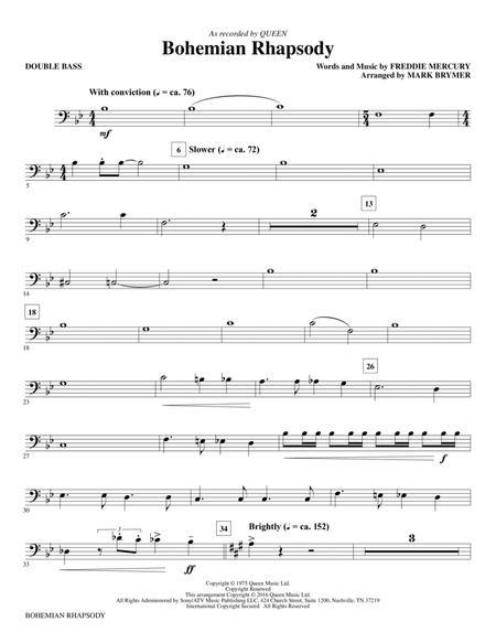 Bohemian Rhapsody (arr. Mark Brymer) - Double Bass