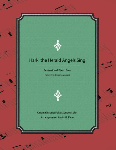 Hark! the Herald Angels Sing - Advanced Christmas Piano Solo
