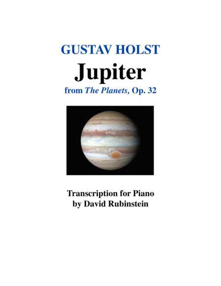 Jupiter - piano transcription