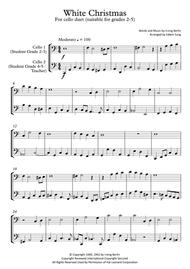 White Christmas (cello duet,~grades 2-5,part scores included)