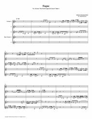 Fugue 16 from Well-Tempered Clavier, Book 1 (Clarinet Quintet)