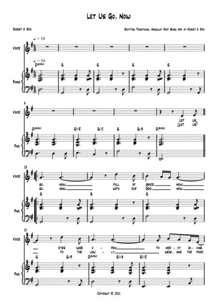 Download Let Us Go, Now (piano/vocal) Sheet Music By