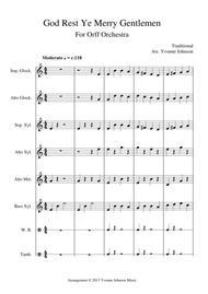 God Rest Ye Merry Gentleman - For Orff Ensemble