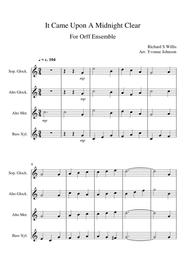 It Came Upon A Midnight Clear - For Orff Ensemble