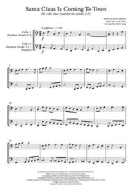Santa Claus Is Comin' To Town (cello duet,~grades 2-5,part scores included)