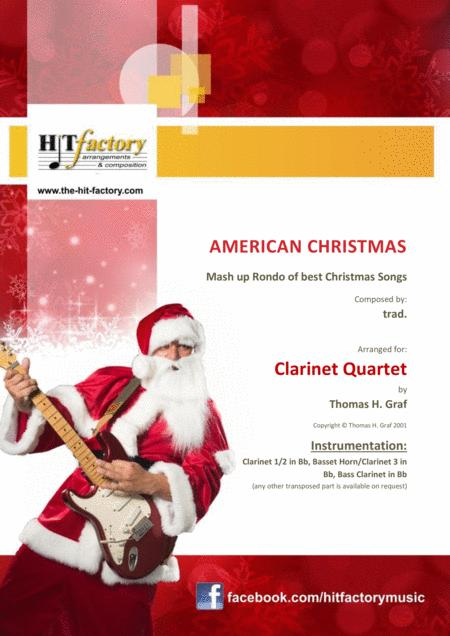 American Christmas - Mash up Rondo of best Christmas Songs - Clarinet Quartet