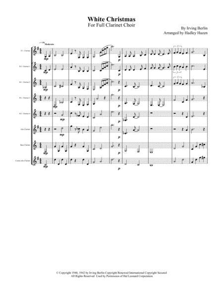 White Christmas for Full Clarinet Choir