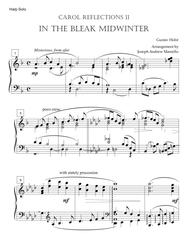 In the Bleak Midwinter Carol Variations - for Solo Harp