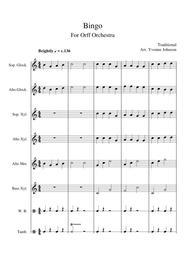 Bingo - For Orff Ensemble