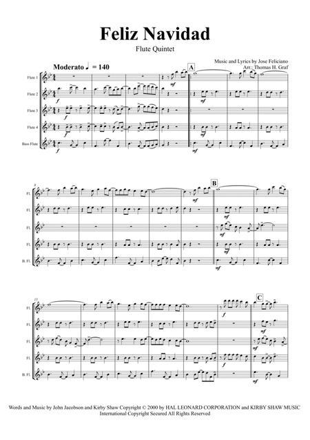Feliz Navidad - Christmas Classic - Flute Quartet