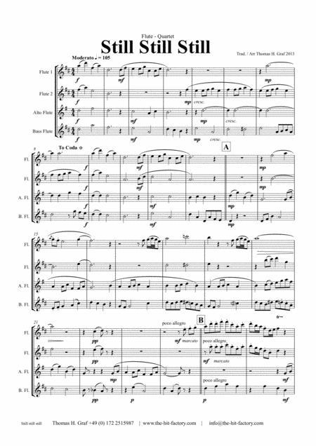Still Still Still - Christmas song - Flute Quartet