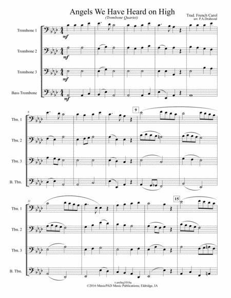 Angels We Have Heard on High (Trombone Quartet)