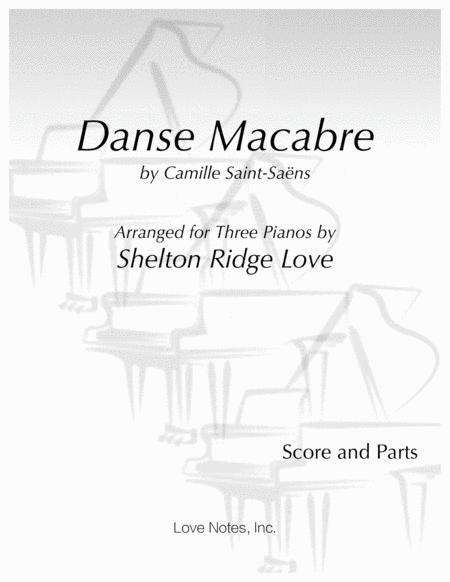 Danse Macabre for Three Pianos (Score and Parts)