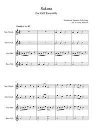 Sakura - For Orff Ensemble