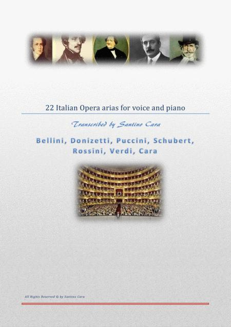 22 Italian opera arias for solo voices and piano