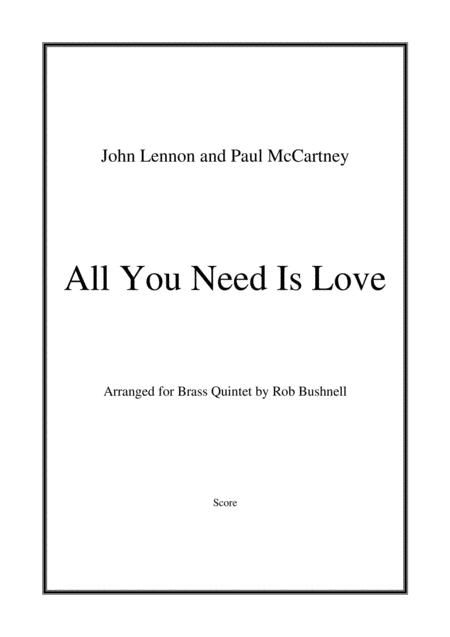 All You Need Is Love (The Beatles) - Brass Quintet