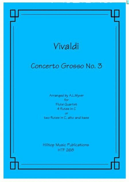 Concerto Grosso No. 3 arr. flute quartet