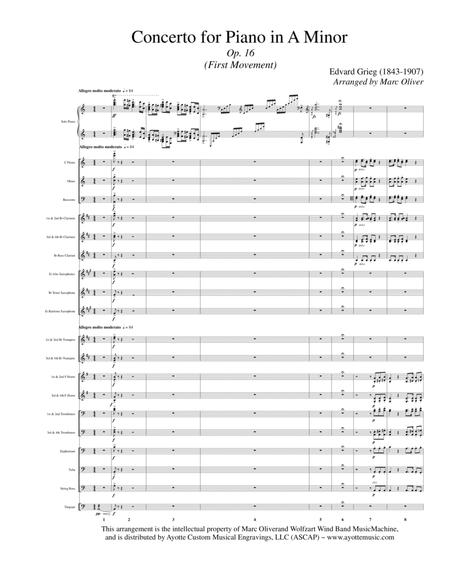Piano Concerto in A Minor (All Movements) with Concert Band Accompaniment
