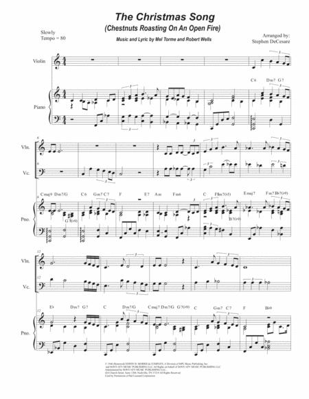 The Christmas Song (Chestnuts Roasting On An Open Fire) (Duet for Violin and Cello)
