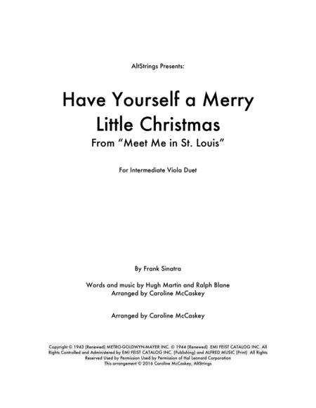 Have Yourself A Merry Little Christmas - Viola Duet